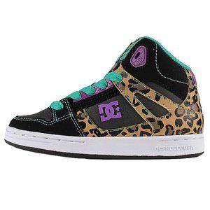 DC Sneaker Kids Rebound SE Sneakers Animal Print